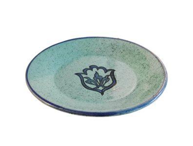 assiette bleue ceramique plate