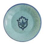 assiette bleue ceramique plate dessus