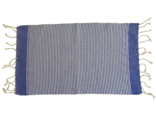 fouta set de table rayures bleu blanc