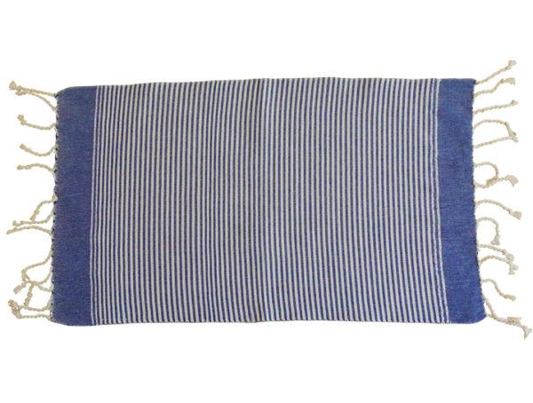 fouta set de table rayures bleu blanc