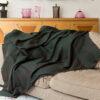 jeté de lit en cachemire artisanal