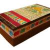 boite de rangement decorative bois peint main marron 34