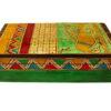 boite de rangement decorative bois peint main vert 34