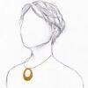 collier cercle artisanal doré sur buste