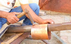 produit artisanal cuivre-martele-main