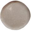 assiette plate blanche artisanale