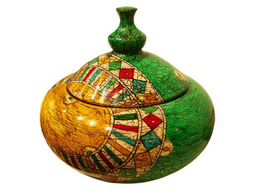 bonbonnière artisanale peinte à la main