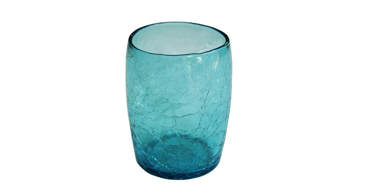 gobelet en verre souffl turquoise souffl bouche. Black Bedroom Furniture Sets. Home Design Ideas