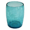 gobelet en verre souffle turquoise
