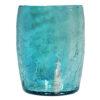 gobelet en verre soufflé turquoise artisanal