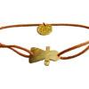 bracelet cordon en coton et pendentif doré