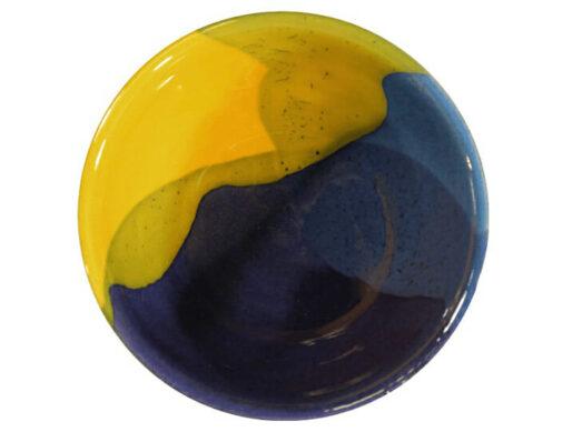 coupelle apéro céramique émaillée jaune