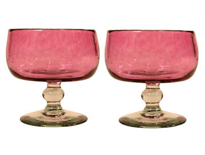 coupelles glace en verre souffl rose par deux produit artisanal. Black Bedroom Furniture Sets. Home Design Ideas
