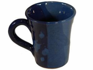 petits déjeuners mugs originaux en terre cuite émaillée bleue