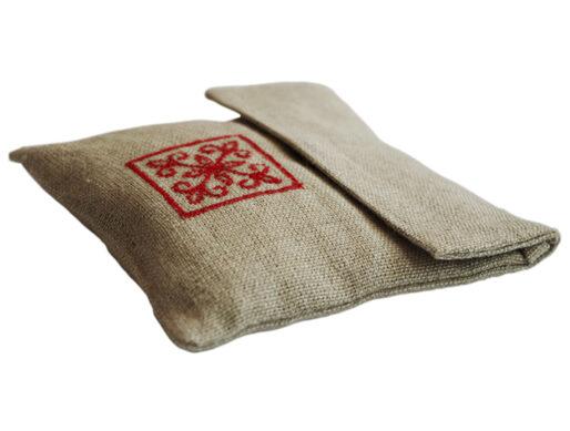 pochette lavande en lin