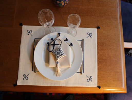 set de table artisanal en coton