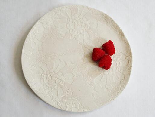 assiette dentelle dessert