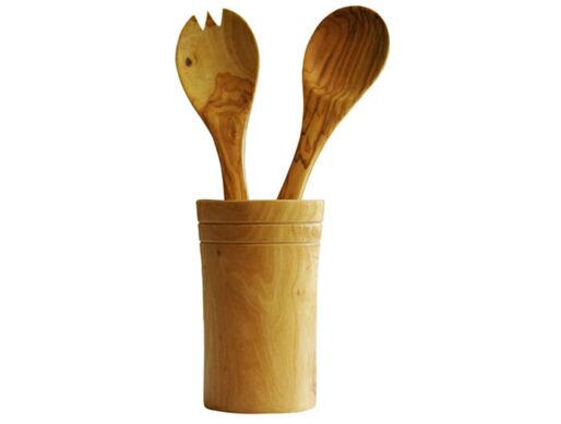 pot range couverts ustensile bois