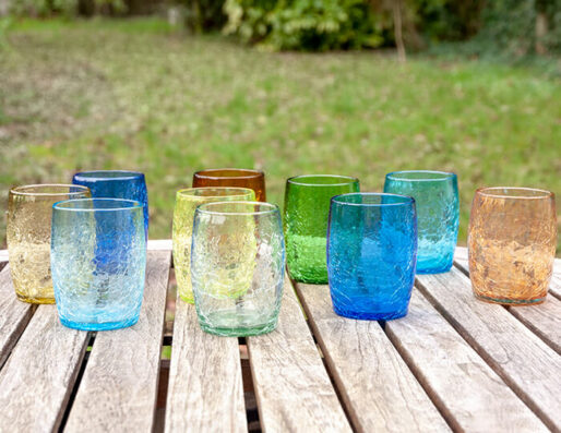 Gobelets en verre