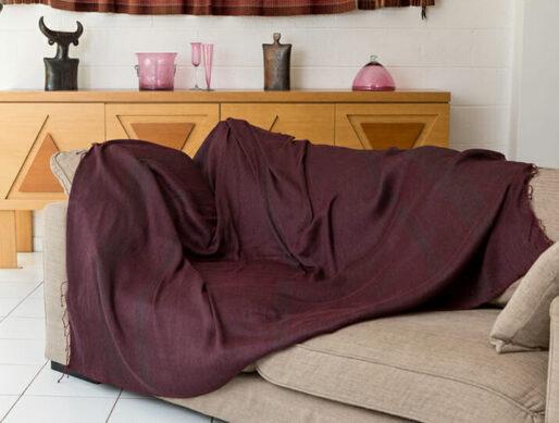 jeté de canapé en cachemire tissage manuel