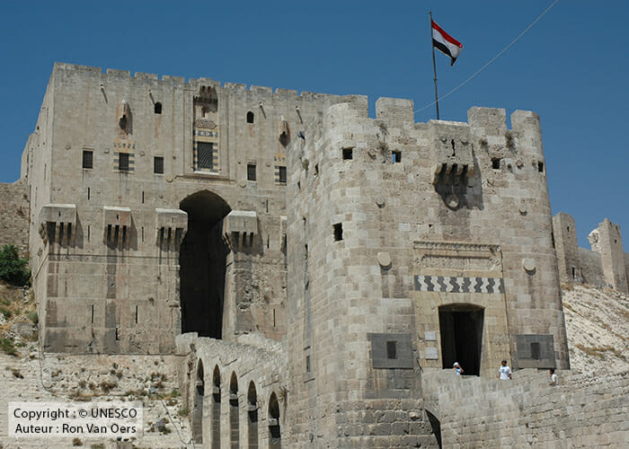 Citadelle d'Alep patrimoine menacé