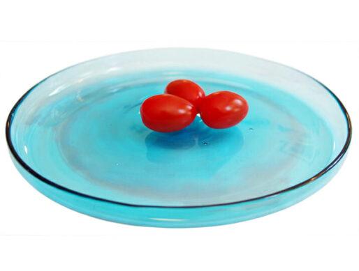 assiette en verre plate