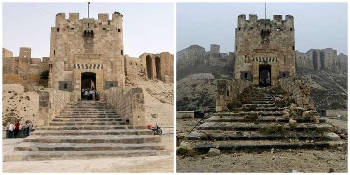 citadelle alep avant apres patrimoine en danger